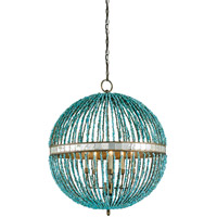Currey & Company 9763 Alberto 5 Light 28 inch Cupertino Orb Chandelier Ceiling Light