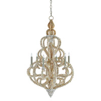 Corniche 6 Light 24 inch Natural Chandelier Ceiling Light
