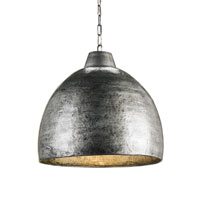 Currey & Company Earthshine 1 Light Pendant in Blackened Steel 9782