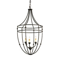 Currey & Company Fitzjames 3 Light Chandelier in Mayfair 9789