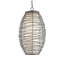Currey & Company Kata 1 Light Pendant in Black Iron 9791