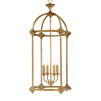Currey & Company Bellario 4 Light Lantern in Antique Brass 9802