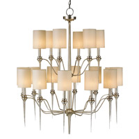 Currey & Company Chaddbury 18 Light Chandelier in Contemporary Silver Leaf  9807