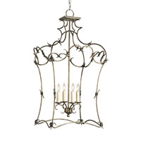 Currey & Company Barbary 4 Light Lantern in Pyrite Bronze 9821