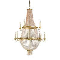 Currey & Company Loulou 12 Light Chandelier in Dutch Gold/Blush 9824