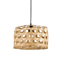Willowbrush 1 Light 15 inch Natural and Old Iron Pendant Ceiling Light