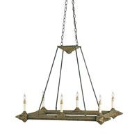 Currey & Company Hobo 6 Light Chandelier in Old Iron/Hobo Brown 9830