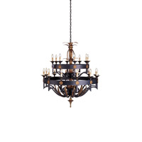 Camelot 20 Light 50 inch Zanzibar/Gold Leaf Chandelier Ceiling Light