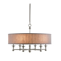 Currey & Company Augustus 6 Light Chandelier in Brushed Nickel 9838