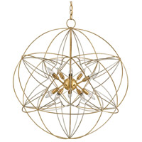 Currey & Company Contemporary Gold Leaf Chandeliers
