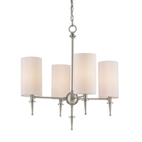 Currey & Company Stanhope 4 Light Chandelier in Brushed Nickel 9843