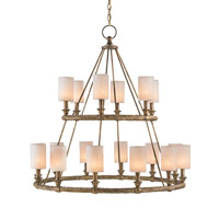 Westbourne 18 Light 39 inch Textured Gold Chandelier Ceiling Light