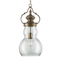 Currey & Company Millcross 1 Light Pendant in Pyrite Bronze 9848