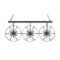 Currey & Company Bandwagon 18 Light Chandelier in Mole Black 9851
