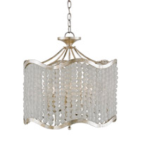 Currey & Company Chanson 6 Light Chandelier in Silver Granello 9852