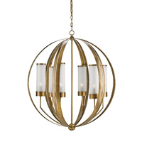 Currey & Company Agnes 6 Light Chandelier in Antique Brass 9854