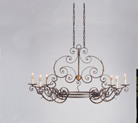 Currey & Company Argosy 6 Light Chandelier in Cupertino/Gold Leaf 9855