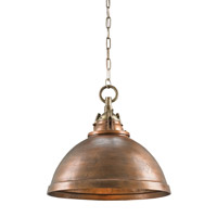 Admiral 1 Light 20 inch Copper and Antique Brass Pendant Ceiling Light