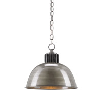 Currey & Company Captain 1 Light Pendant in Antique Black 9858