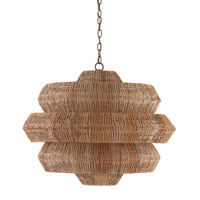 Antibes 9 Light 30 inch Khaki and Natural Chandelier Ceiling Light