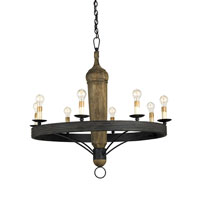 Currey & Company Hogarth 8 Light Chandelier in Mole Black 9860