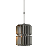 Currey & Company Turbina 1 Light Pendant in Hiroshi Gray 9861