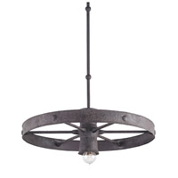 Currey & Company Bandwagon 1 Light Pendant in Mole Black 9862