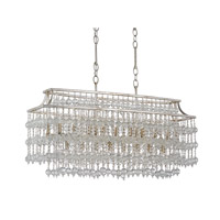 Currey & Company Rainhill 17 Light Chandelier in Silver Granello and Mist 9864