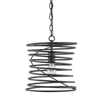 Currey & Company Nebula 1 Light Pendant in French Black 9867