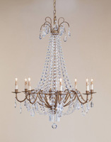 Currey & Company Versailles 8 Light Chandelier in Rhine Gold 9876