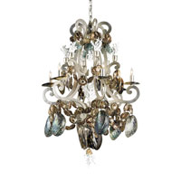 Currey & Company Silvio 6 Light Chandelier in Natural 9877