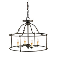 Currey & Company Fitzjames 4 Light Pendant in Mayfair 9878