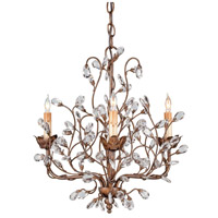 Currey & Company 9883 Crystal Bud 3 Light 18 inch Cupertino Chandelier Ceiling Light