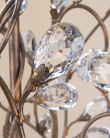 Currey & Company Crystal Bud 3 Light Chandelier in Cupertino 9883