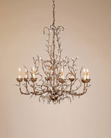Currey & Company Crystal Bud 8 Light Chandelier in Cupertino 9884