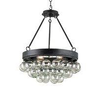 Currey & Company Balthazar 3 Light Pendant in French Black 9887