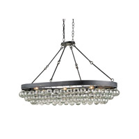 Currey & Company Balthazar 6 Light Pendant in French Black 9888