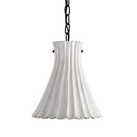 Currey & Company Jazz 1 Light Pendant in Satin Black/White Crackle 9901