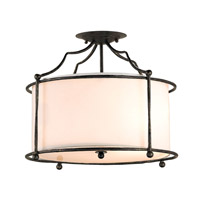 Cachet 4 Light 18 inch Mayfair Semi-Flush Mount Ceiling Light
