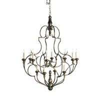 Currey & Company International 12 Light Chandelier in Dirty Silver 9914