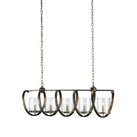 Currey & Company Maximus 5 Light Chandelier in Dirty Silver 9915