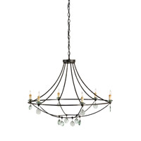 Currey & Company 9921 Novella 6 Light 35 inch Mayfair Chandelier Ceiling Light