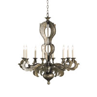 Currey & Company Manigault 8 Light Chandelier in Dirty Silver 9926