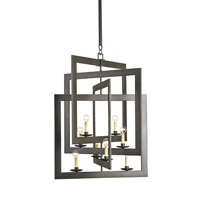 Currey & Company Middleton 8 Light Chandelier in Bronze Gold 9927