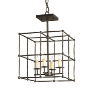 Currey & Company Fitzjames 4 Light Pendant in Mayfair 9931