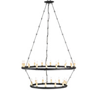 Toulouse 30 Light 33 inch Black Smith  Chandelier Ceiling Light