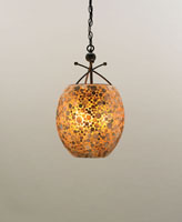 Currey & Company Lucy 3 Light Pendant in Cupertino/ Amber 9936 photo thumbnail