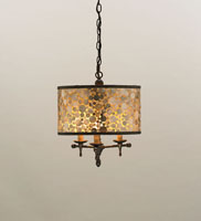 Currey & Company Peggy 3 Light Pendant in Cupertino/ Amber 9937