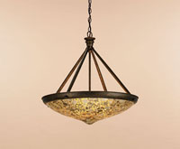 Currey & Company Edith 3 Light Pendant in Cupertino/ Amber 9938