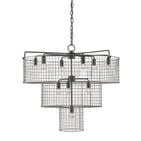 Hobhouse 10 Light 33 inch Satin Black / Galvanized Chandelier Ceiling Light